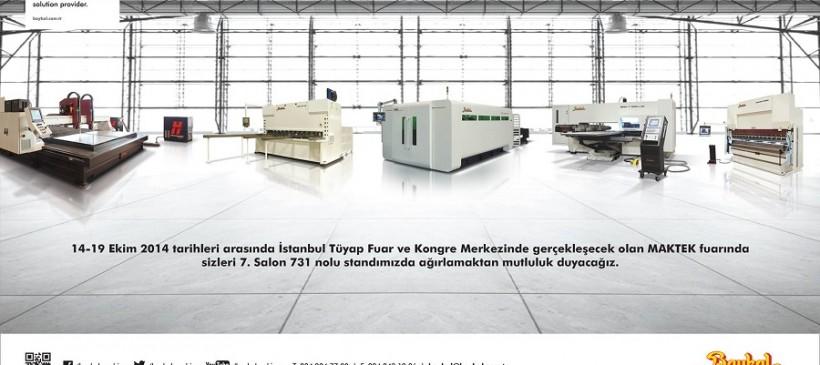 14-19 октября 2014 Выставка Maktek Avrasya Стамбул, павильон 7, стенд 731
